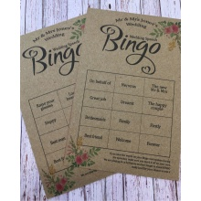 Kraft Brown Wedding Speech Bingo